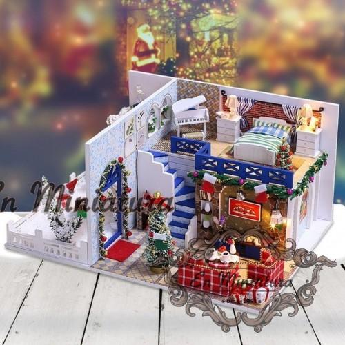 Escena de casa completa con luz ( Escena Navidad)
