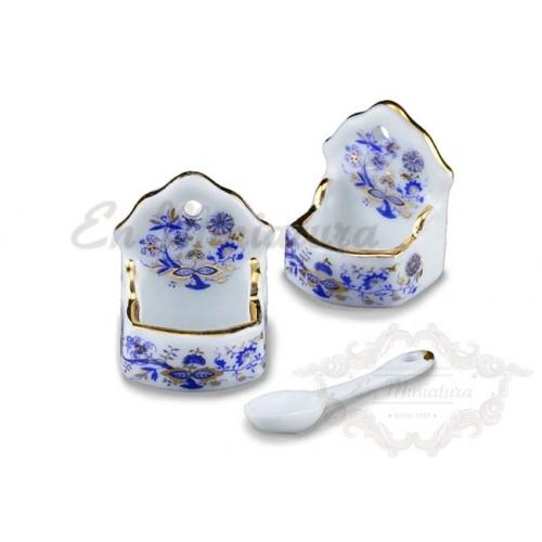 Set of porcelain salt shakers