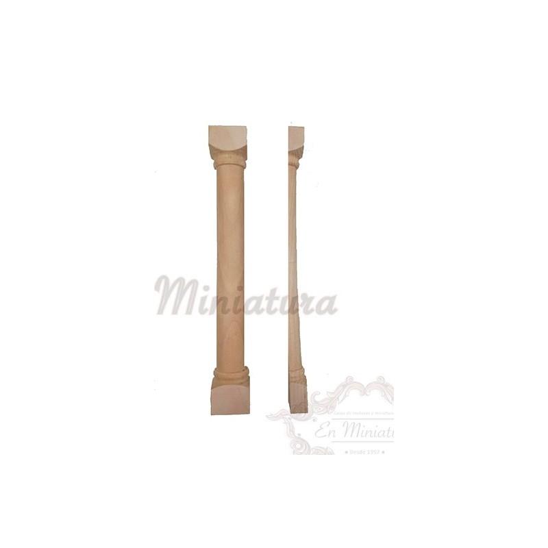 Media columna de madera