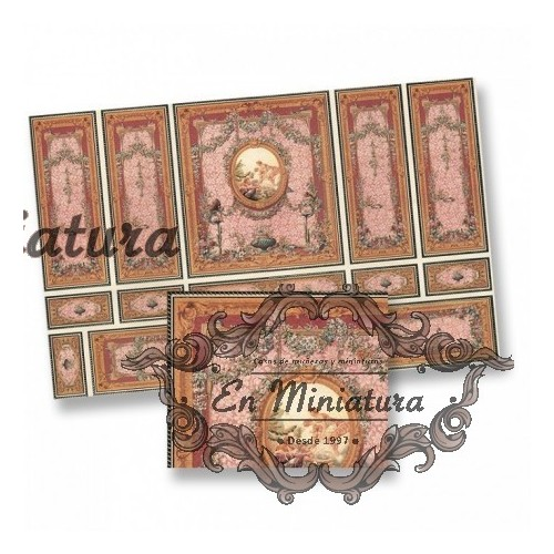 Papel relieve oro y Rosas