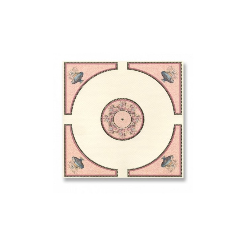 Papel techo oro y rosas