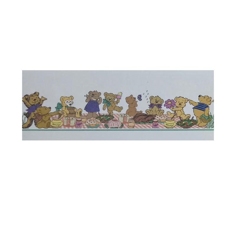 Infant border teddy bears