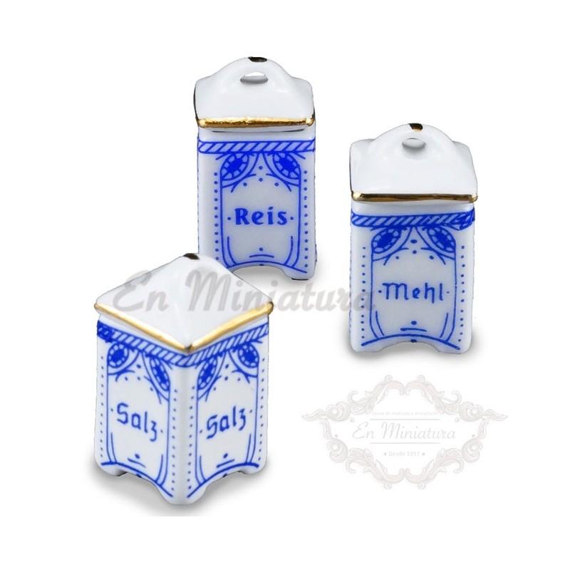 Tarros de porcelana cocina
