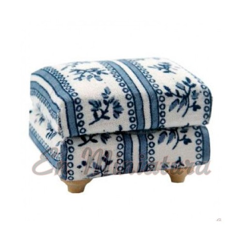 Footrest or footstool Blue