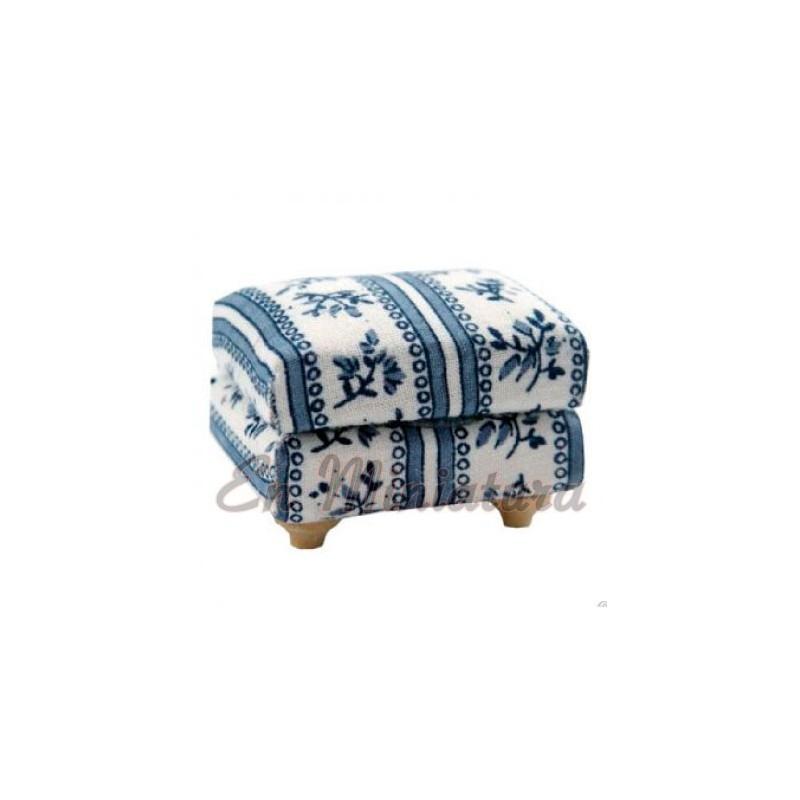 Footrest or footstool Blue