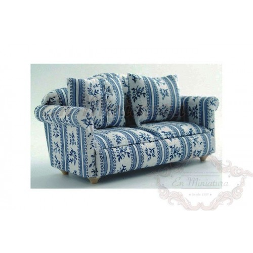 Armchair or sofa in blue tones