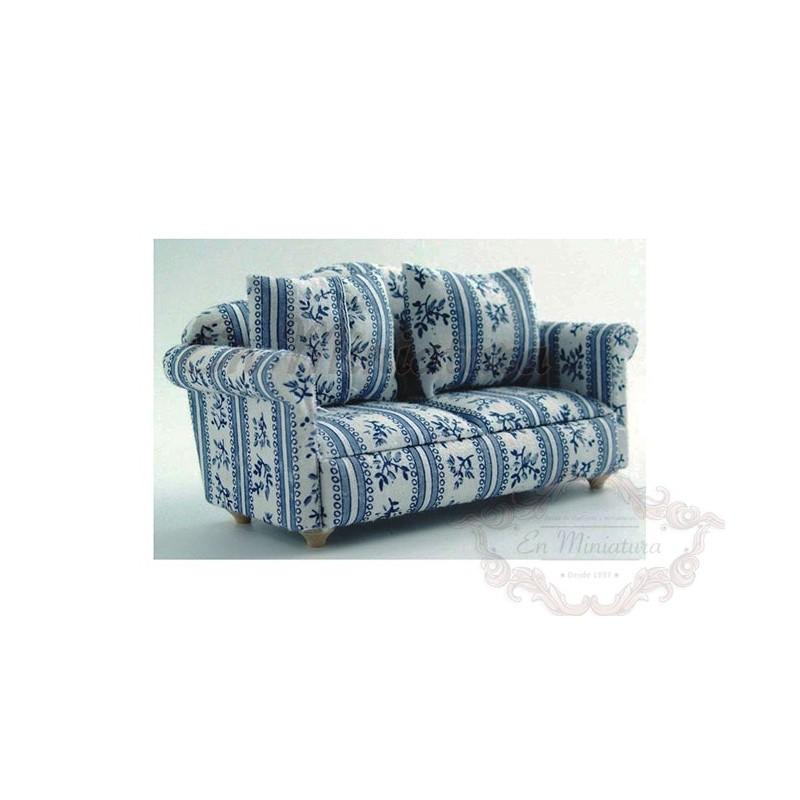 Sillón o sofá en tonos azules