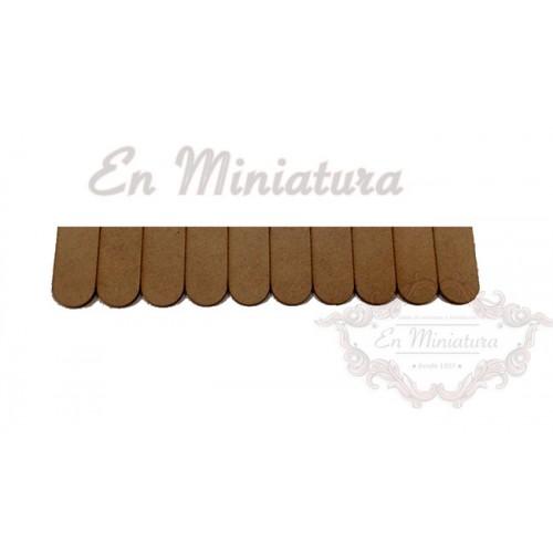 Strip of wooden shingles 40 Sheets of 400 shingles
