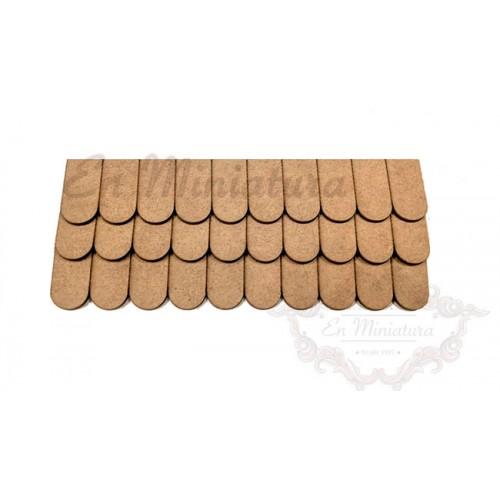 Tira de tejas de madera 40 Láminas 400 tejas