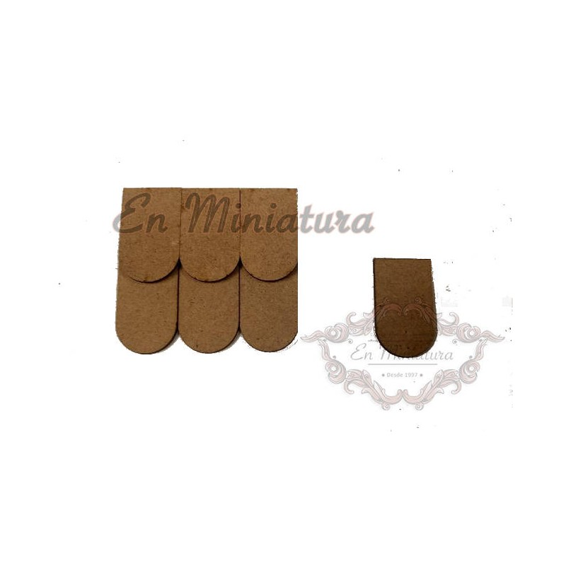 Wooden shingle bag 100 units