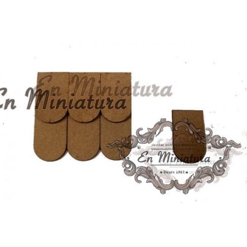 Tejas de madera sueltas, bolsa 500 unidades