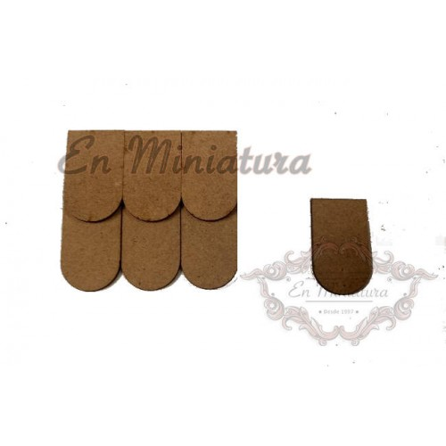 Loose wooden tiles, bag 500 units