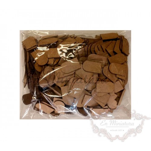 Loose wooden tiles, bag 500 units