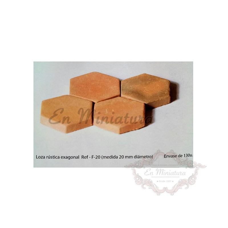 Hexagonal rustic crockery 130 units