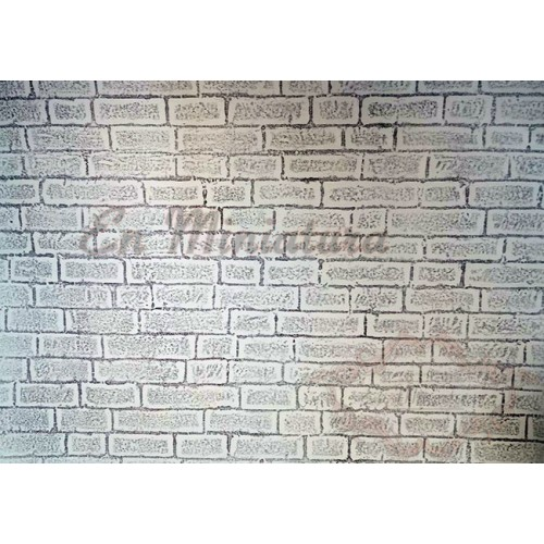 Paper with relief stone wall Adhesive