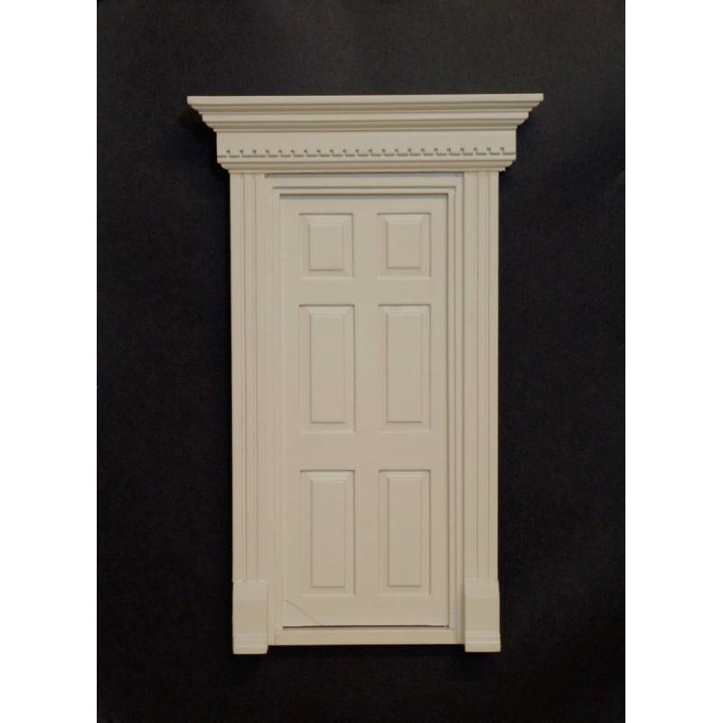 Puerta dintel lacada en blanco