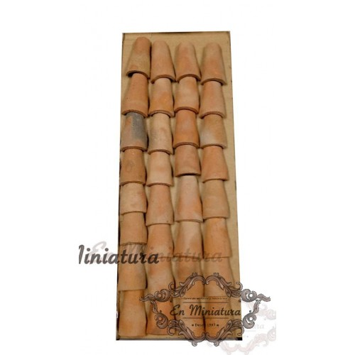Andalusian roof tile (38x22x13)