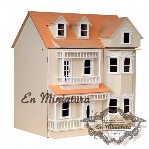 Casa de muñecas Exmouth, Sin Pintar