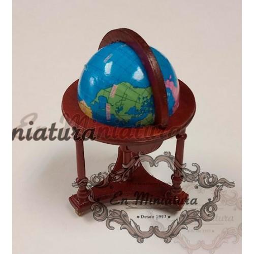 Bola del mundo con base