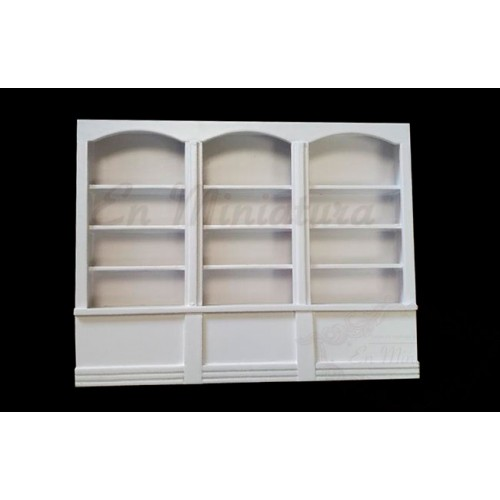 White triple shelving