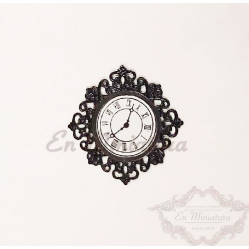 Filigree wall clock
