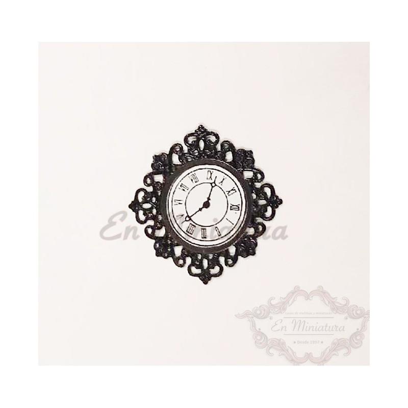 Filigree wall clock