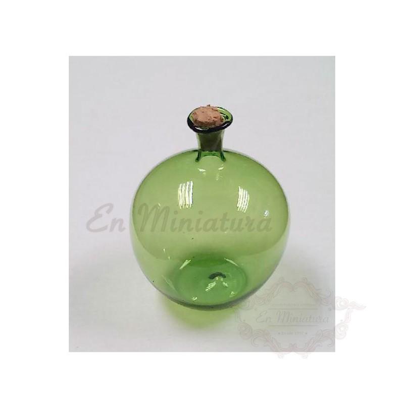 Garrafa de cristal verde