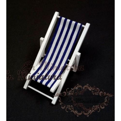 Deckchair or striped hammock