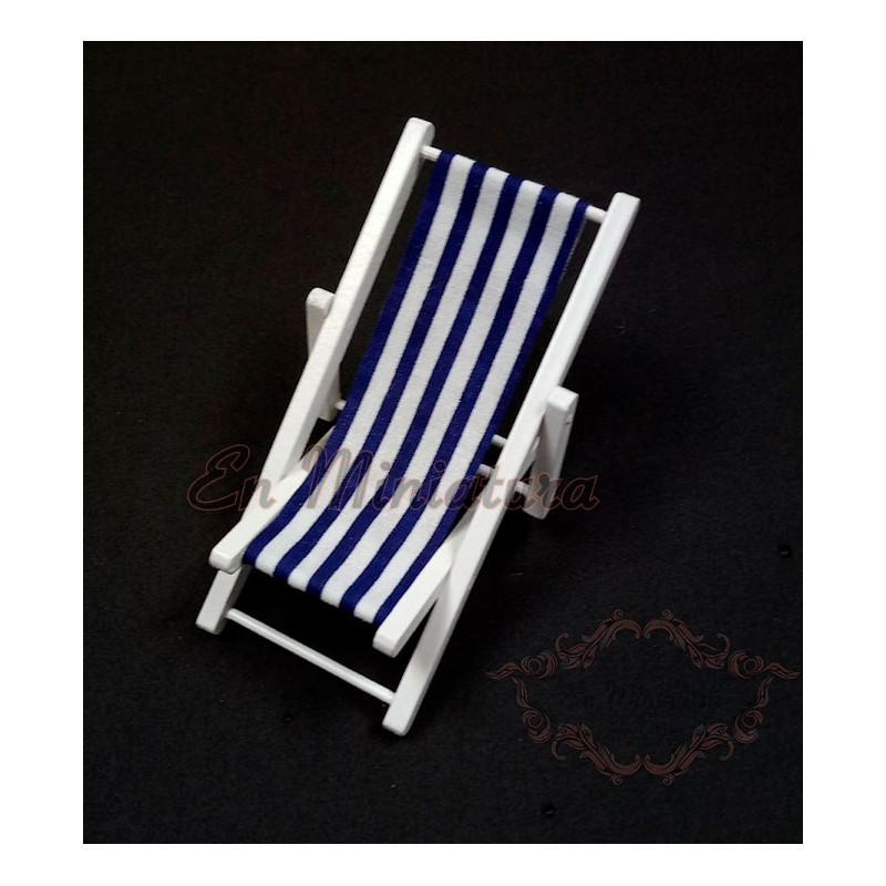 Deckchair or striped hammock