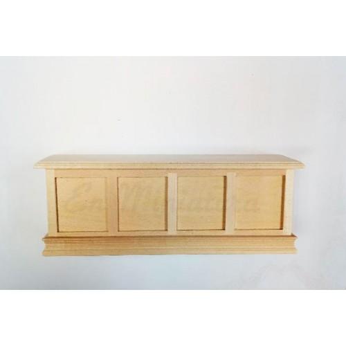 Mostrador en madera natural