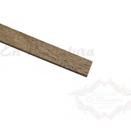 Flat strip 1mm thick, Walnut