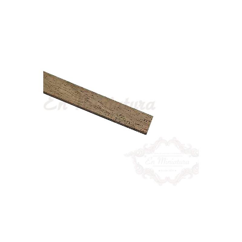 Flat strip 1mm thick, Walnut