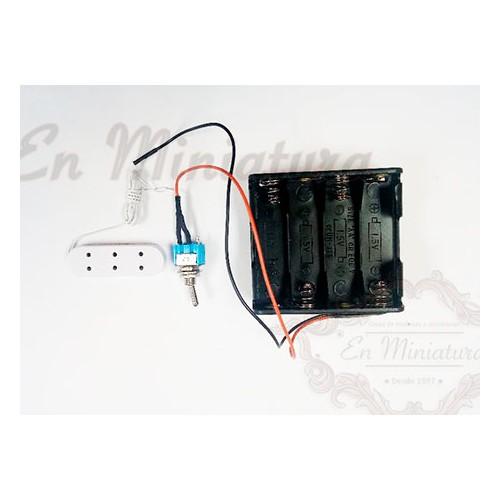 Adaptador de luz a pilas, 12 Voltios
