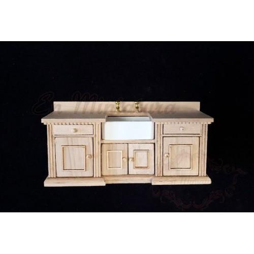 Mueble lavabo de madera Natural