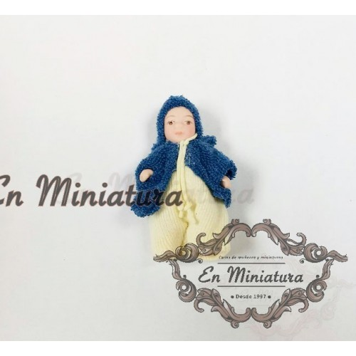 Baby in miniature blue suit