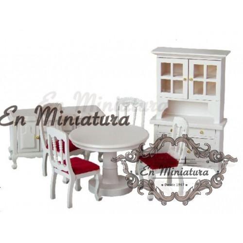 Conjunto de muebles de comedor Blanco