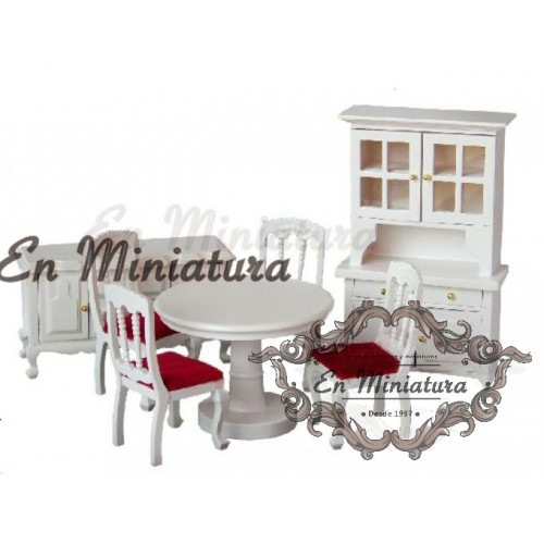 White dining furniture set