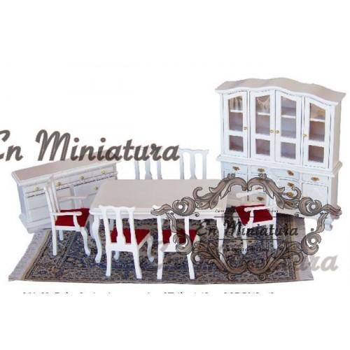 Conjunto de comedor-Salón Blanco