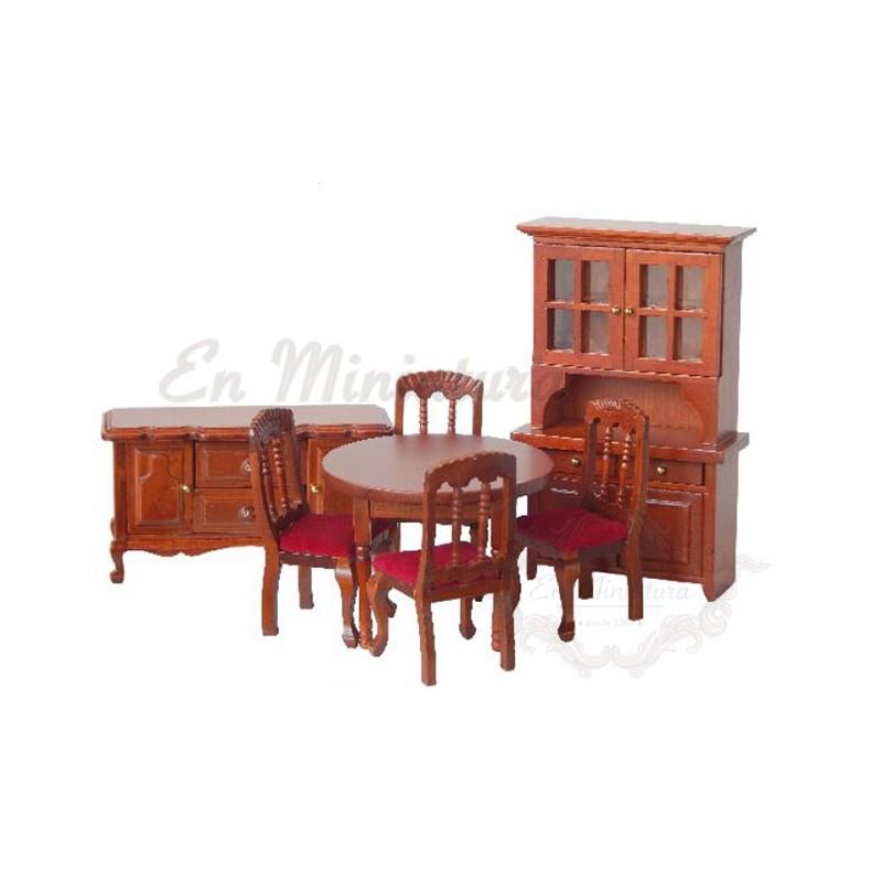 Conjunto de muebles para casas de muñecas, set barato de comedor