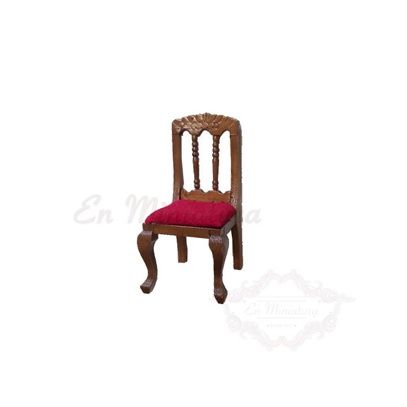 Carved walnut chair