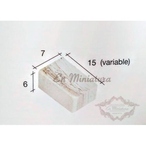 Box of 2000 units, Marbled brick for mock-ups