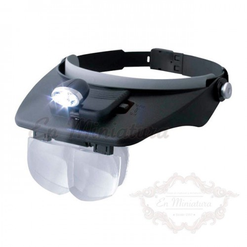 Lupa con seis lentes de diferentes aumentos y luz led