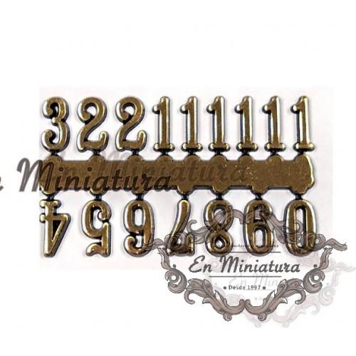 Números dorados adhesivos para casas