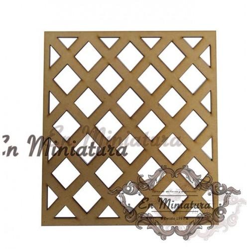 Wood latticework