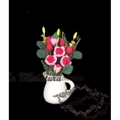 Maceta Jarrón con rosas