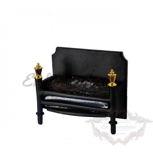 Soporte con ascuas para chimenea con luz fuego