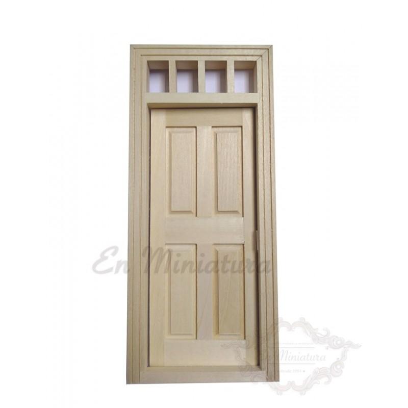 Puerta con cristal natural de exterior