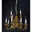 Golden chandelier for dollhouses