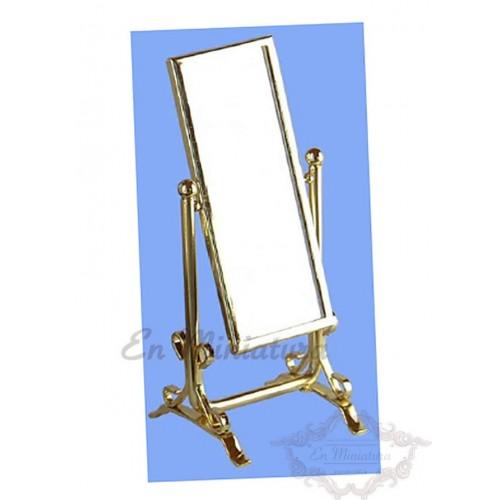 Espejo de suelo dorado