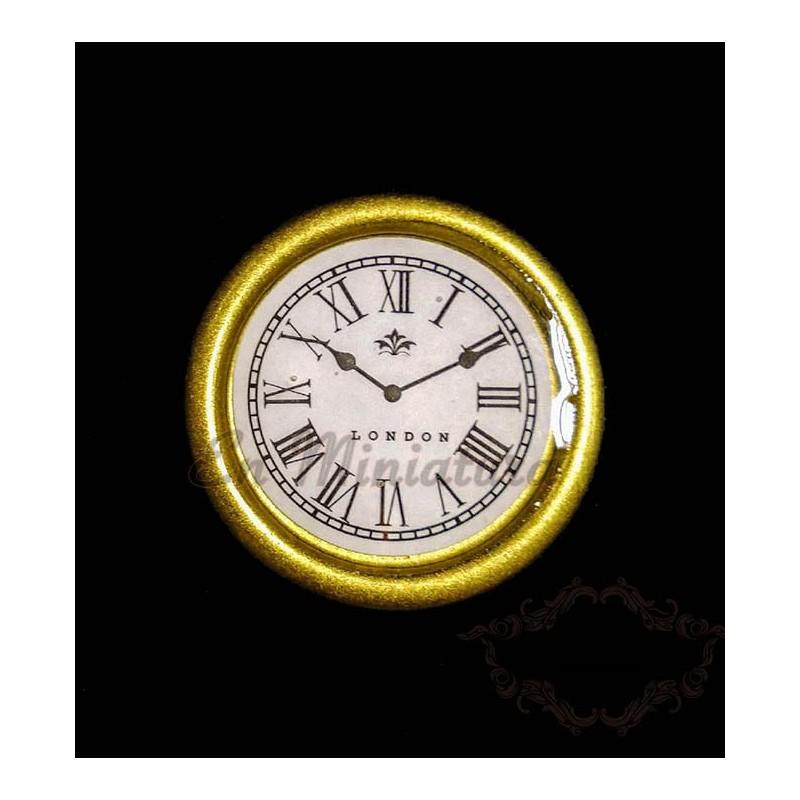 Wall clock ( Gold )